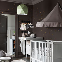 The baby's cot