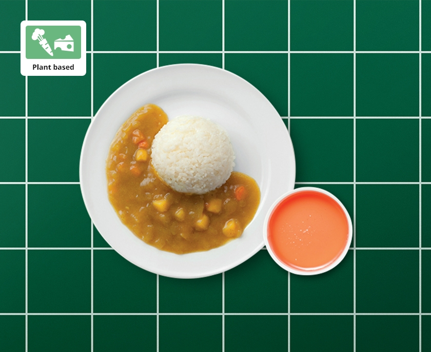 Plant based kid's curry with jelly